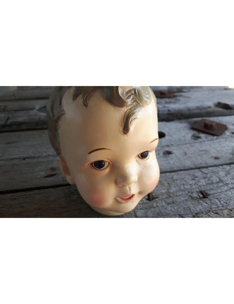 Deko Puppenkopf Kunststoff Junge 13627