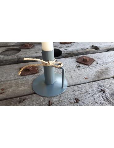 Kerzenständer Kerzenhalter grau rund ohne Kerze 13739