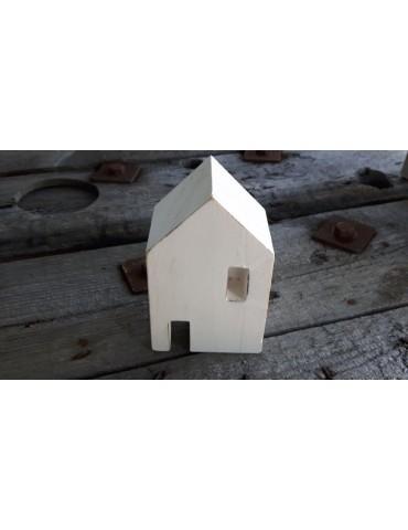 Deko Holzhaus Haus Holz weiß white Vintage klein 13740