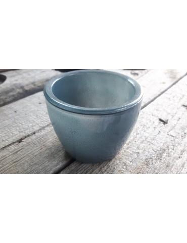 Teelicht Teelichtglas Kerzenständer Glas petrol grün rund 52116