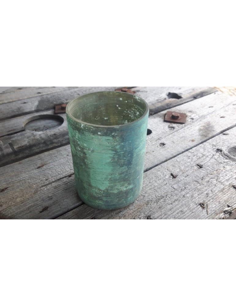 Teelicht Teelichtglas Kerzenständer Glas mint Kupfer rund 6176193