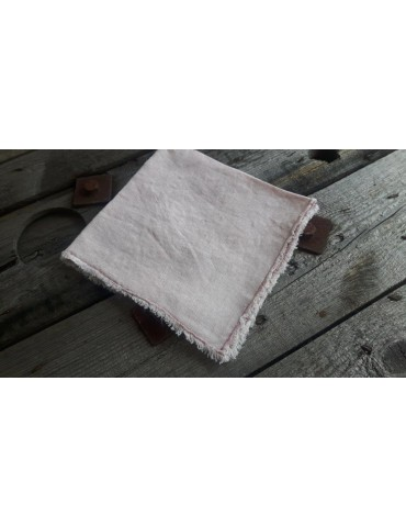 Deckchen Set Untersetzer rose rosa 100% Leinen Bloom 45 x 45 cm 11762