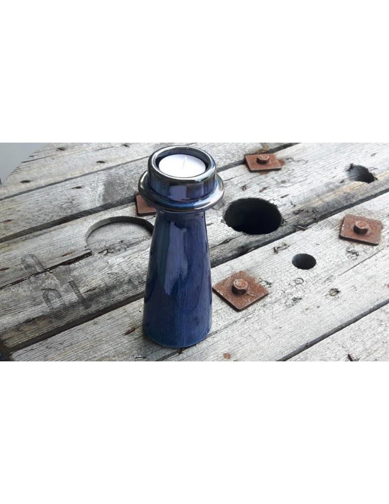 Kerzenständer Kerzenhalter Teelichthalter dunkelblau blau 13274