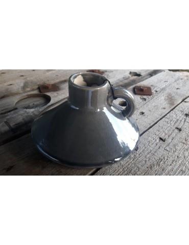 Vase Blumenvase Keramik Porzellan grau bunt Schimmer 6297144