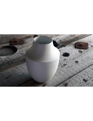 Vase Blumenvase Dekovase Metall weiß white 11462