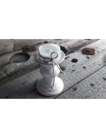 Kerzenständer Kerzenhalter Teelichthalter Keramik weiß white 4849