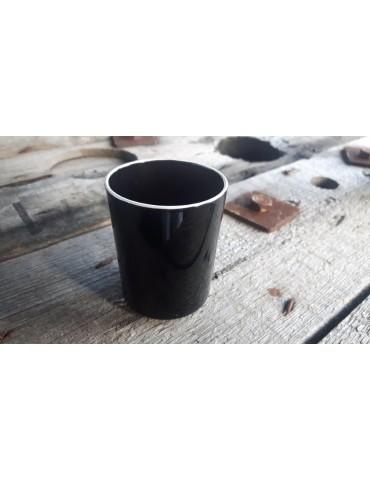 Teelicht Teelichtglas Blumenvase Vase Glas schwarz weiß 11467