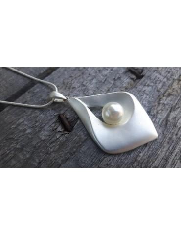 Bijoux Damen Modeschmuck Kette Halskette silber Perle 8075230