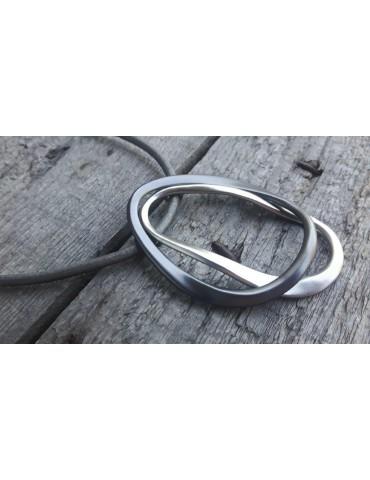 Bijoux Damen Modeschmuck Kette Halskette grau taupe silberfarben 14900
