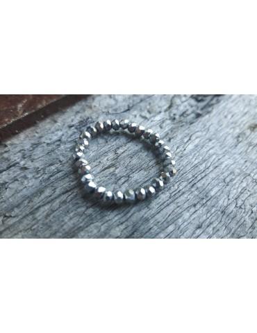 Bijoux Modeschmuck Ring Damenring Kristall silber silver Schimmer