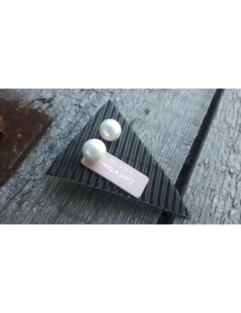 Bijoux Damen Modeschmuck Ohrringe Ohrstecker Perlen creme 9059500