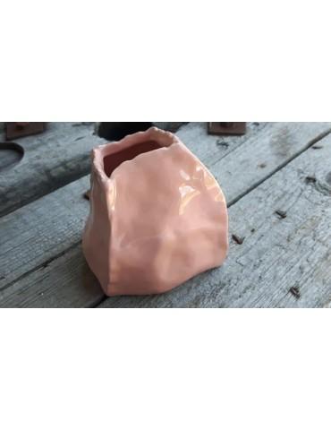 Vase Blumenvase Dekovase Porzellan Keramik lachs apricot 11175