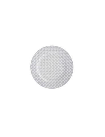 Krasilnikoff Porzellan Essteller Teller Plate weiß hellgrau Diagonal HP 26180