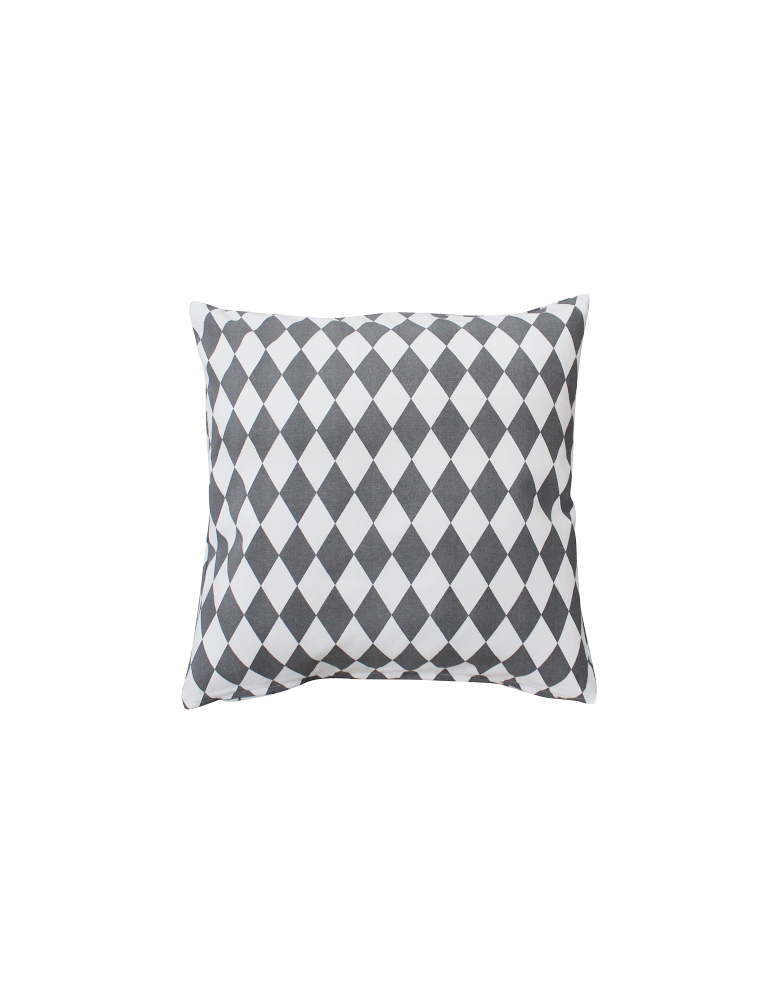 Kissenbezug Kissenhülle 50 x 50 ohne Füllung grau weiß Rauten