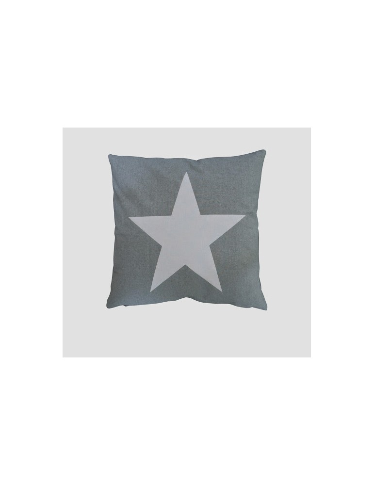 Krasilnikoff Kissenbezug Kissenhülle 50 x 50 ohne Füllung hellgrau weiß Stern