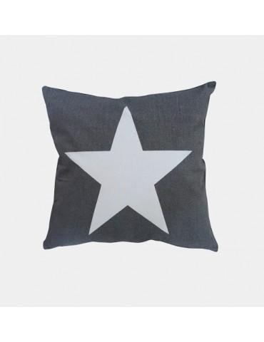 Krasilnikoff Kissenbezug Kissenhülle 50 x 50 ohne Füllung grau weiß Stern