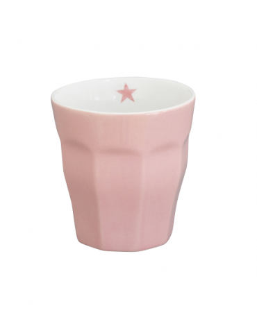 Krasilnikoff Keramik Kaffeetasse Tasse Becher Mug rose rosa uni