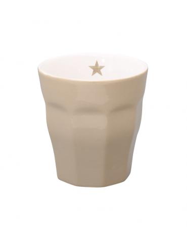 Krasilnikoff Keramik Kaffeetasse Tasse Becher Mug taupe beige uni