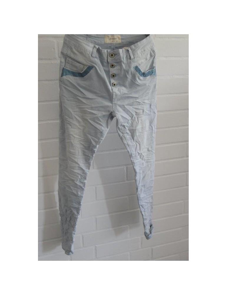Lexxury Jewelly Coole Jeans Hose hellblau blau Gr. S 36 38