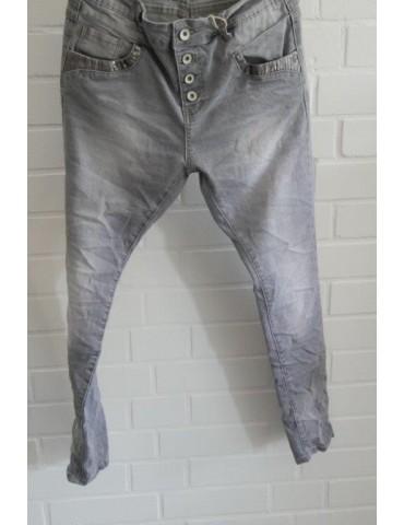 Lexxury Jewelly Coole Jeans Hose hellgrau grau Gr. S 36 38