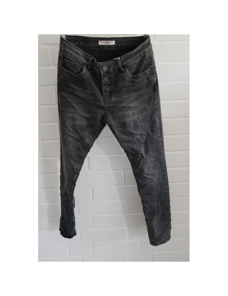 Lexxury Jewelly Coole Jeans Hose Damenhose grau