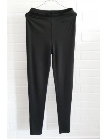 C & S Legging Hose Damenhose schwarz Gr. M/ L