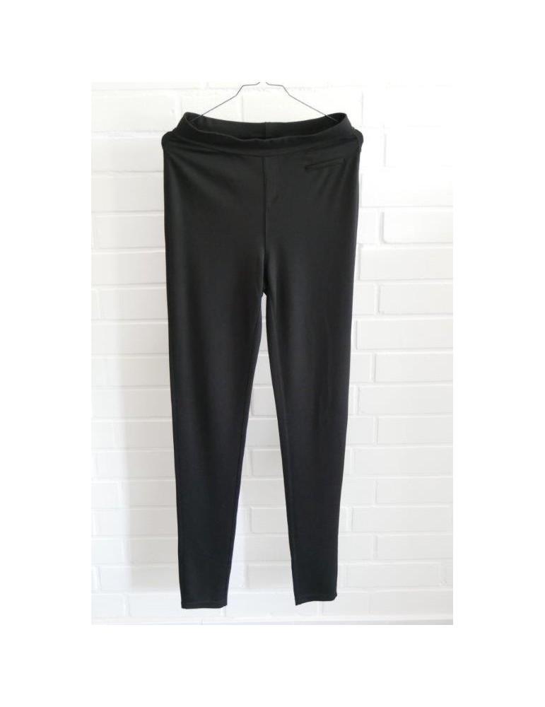 C & S Bequeme Sportliche Legging Hose Damenhose schwarz Gr. M/ L 40 42
