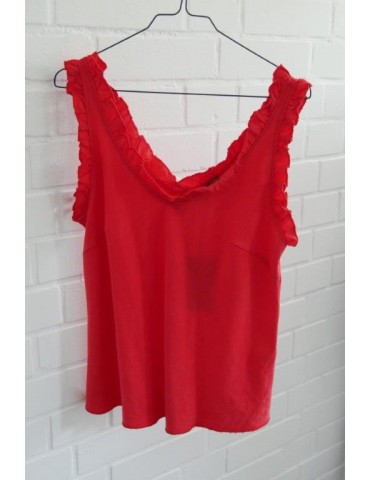 Top Shirt rot feuerrot red...