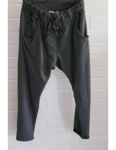Jogginghose JogPants Damenhose Hose anthrazit grau Gr. L 40 42 mit Verstellband