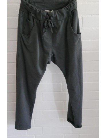 Jogginghose JogPants Damenhose Hose anthrazit grau mit Verstellband