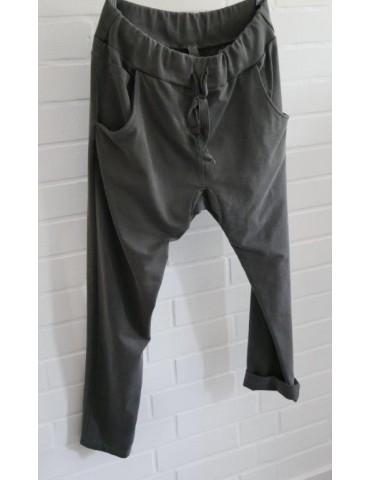 Jogginghose JogPants Damenhose Hose anthrazit grau verwaschen
