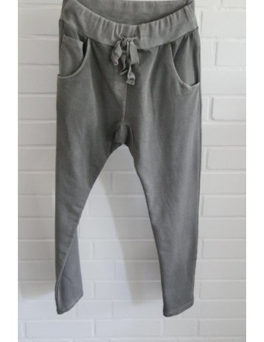 Jogginghose JogPants Damenhose Hose grau verwaschen Gr. S 36 38