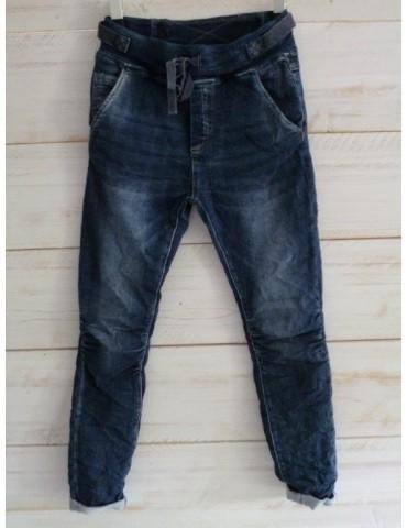 Melly & Co Bequeme Jeans Hose Jogging Jog Pants blau verwaschen Jeansstoff