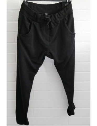 Jogginghose JoggPants Damenhose Hose schwarz black mit Verstellband