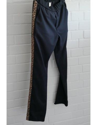 Wendy Trendy Sportliche Hose Chino dunkelblau...