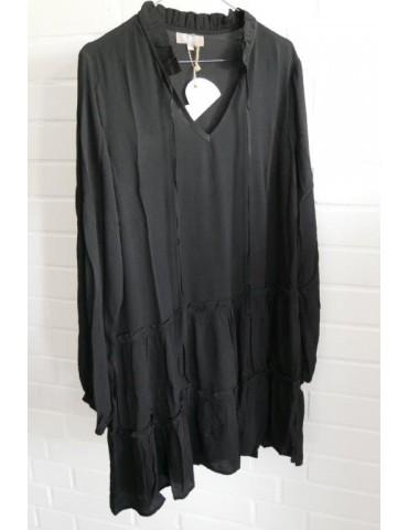 C & S Damen Tunika Kleid A-Form schwarz uni Gr. L 36 - 40