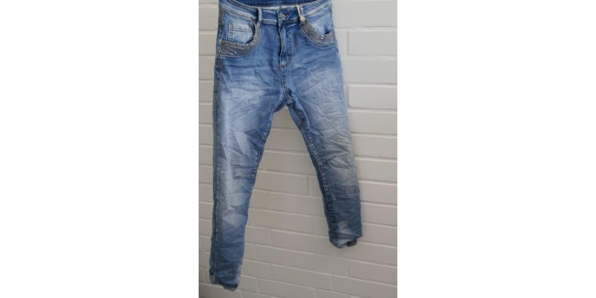 MELLY & CO JEANS MIT PAILLETTEN